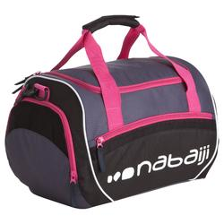 Schwimmtasche Sporttasche Swimy 30L grau/rosa
