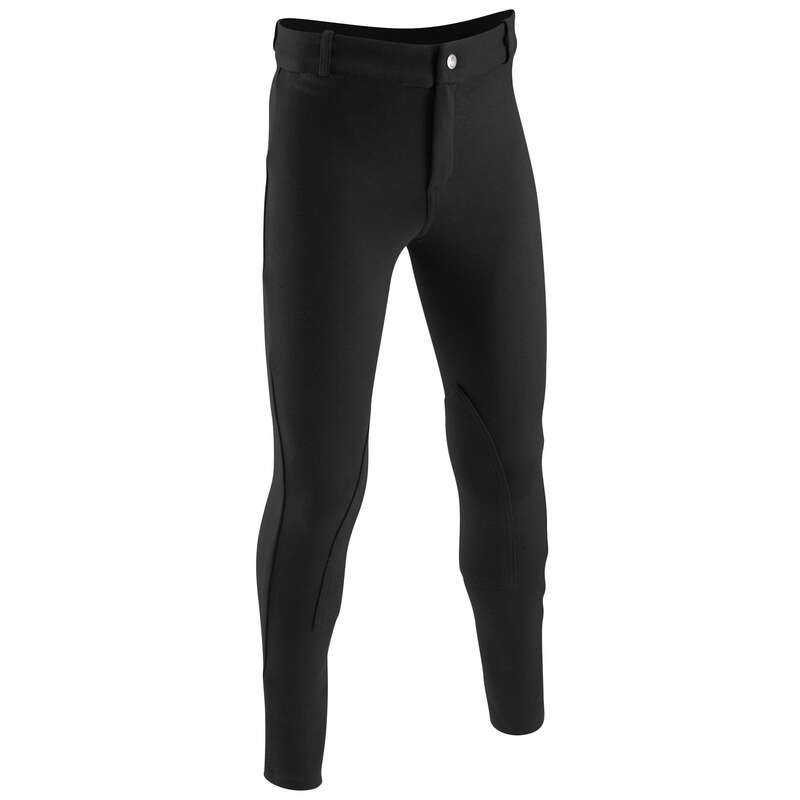 RIDING WEAR JUNIOR Horse Riding - DISCOVERY Jodhpurs Junior Black FOUGANZA - Horse Riding Clothes