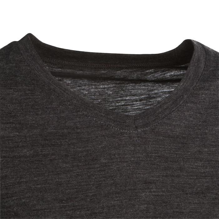 Merino shirt voor backpacken dames Travel 100 grijs