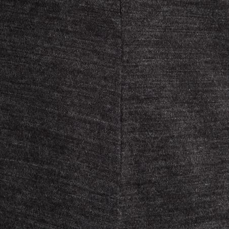 Playera de manga larga trekking TRAVEL 500 lana merina mujer gris