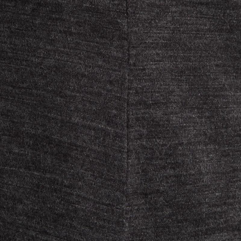 Women's Trekking Long-Sleeved Merino Wool T-Shirt TRAVEL500 - Grey