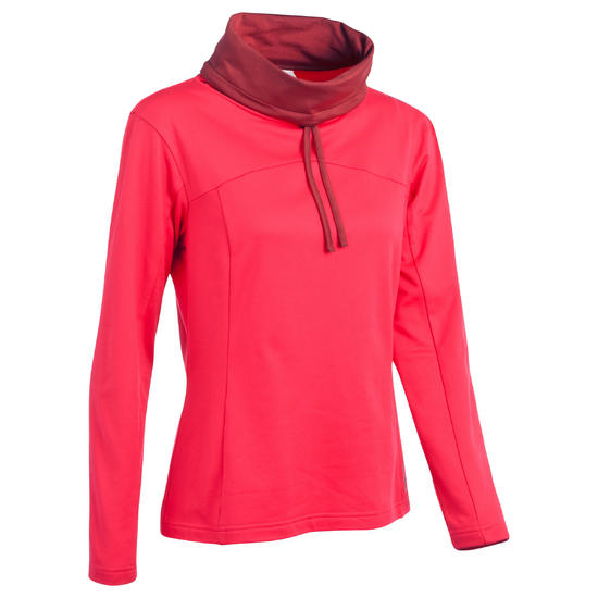 Dames T-shirt met lange mouwen voor trekking Forclaz 100 Warm - 336252