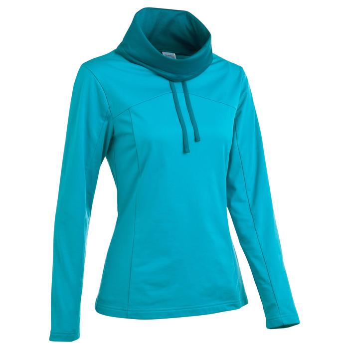 T-shirt voor wandelen in de sneeuw dames SH100 warm turquoise