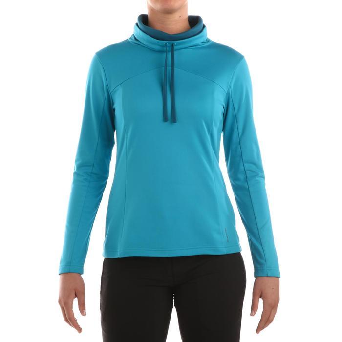 T-shirt voor wandelen in de sneeuw dames SH100 warm - 336285