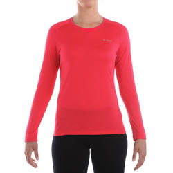 T-shirt lange mouwen trekking Techfresh 50 dames - 336301