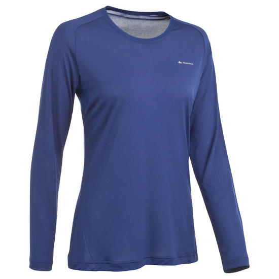 T-shirt lange mouwen trekking Techfresh 50 dames - 336316
