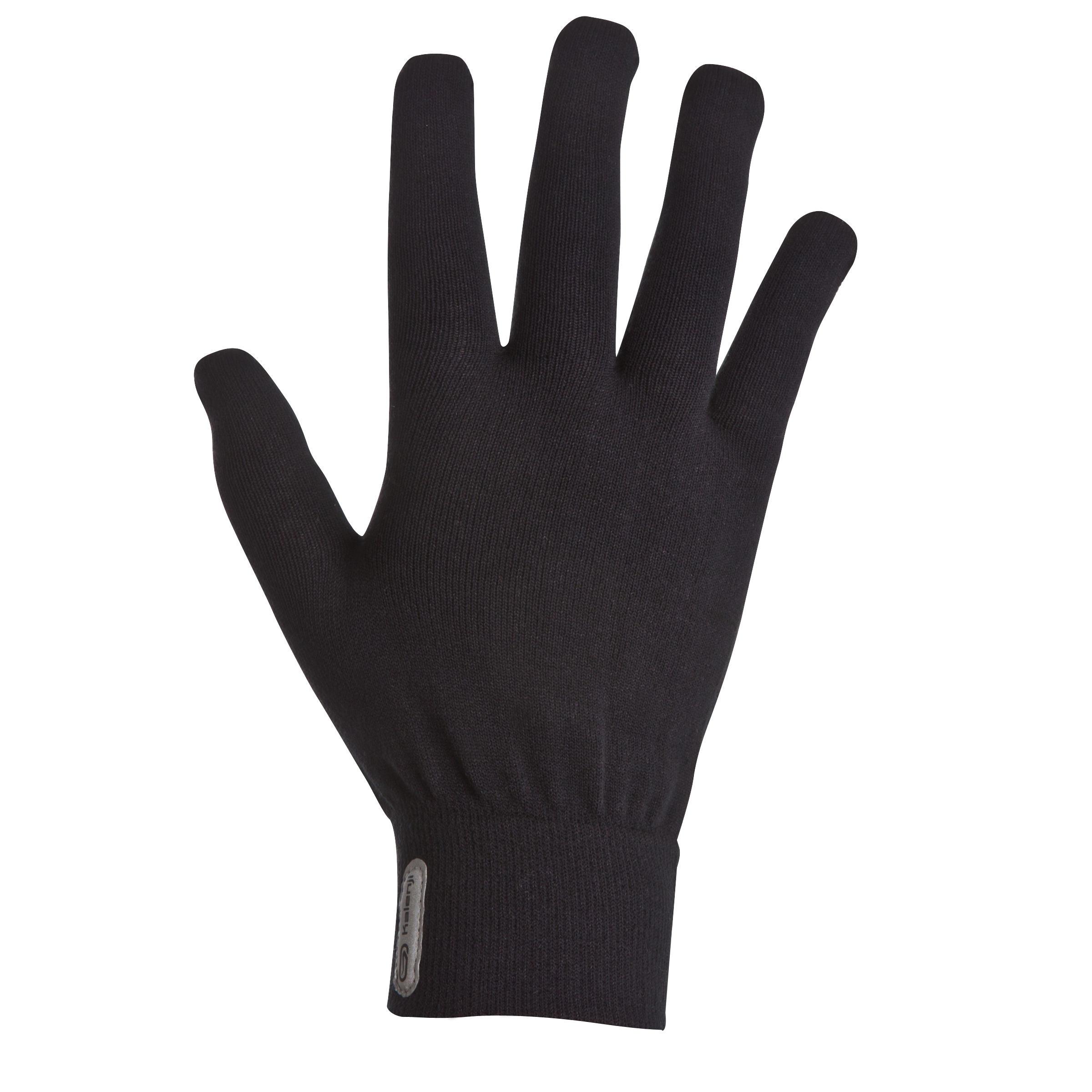 Seamless children's athletics gloves - black