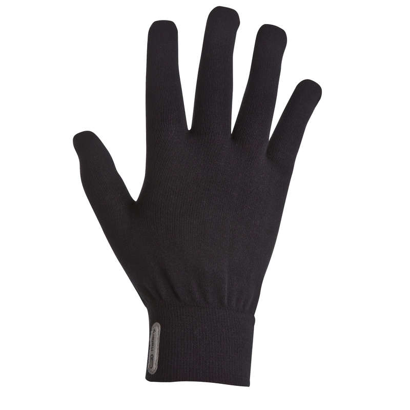 KIDS ATHLETICS CLOTHES ACCESS Running - JUNIOR ATHLETICS GLOVES BLACK KALENJI - Running Clothing