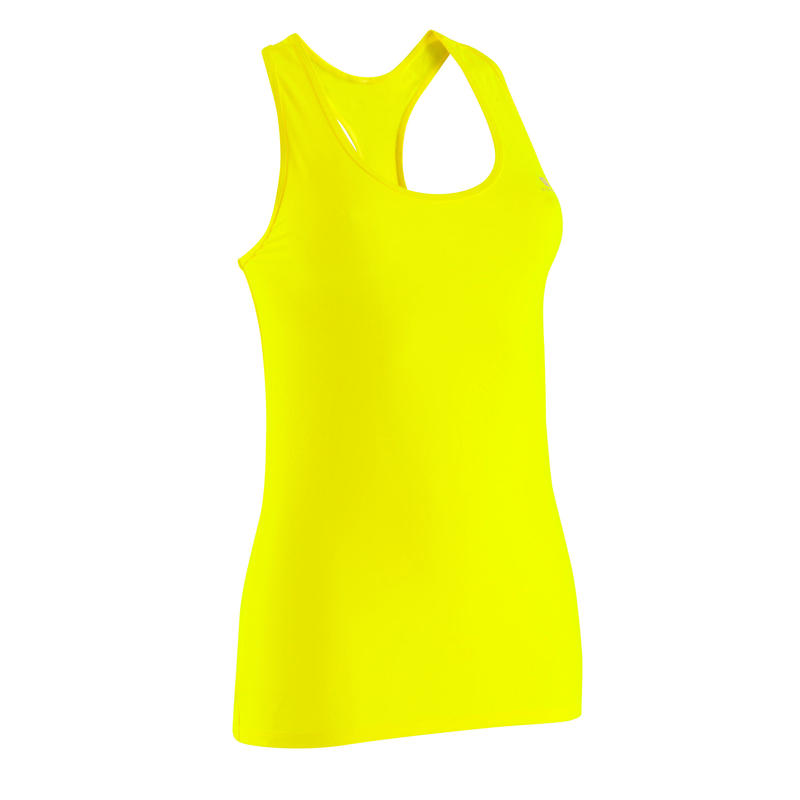 My Top 100 Women's Cardio Fitness Tank Top - Neon Yellow