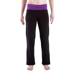 Yogabroek in katoen uit biologische teelt, voor dames - 338717