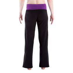 Yogabroek in katoen uit biologische teelt, voor dames - 338718
