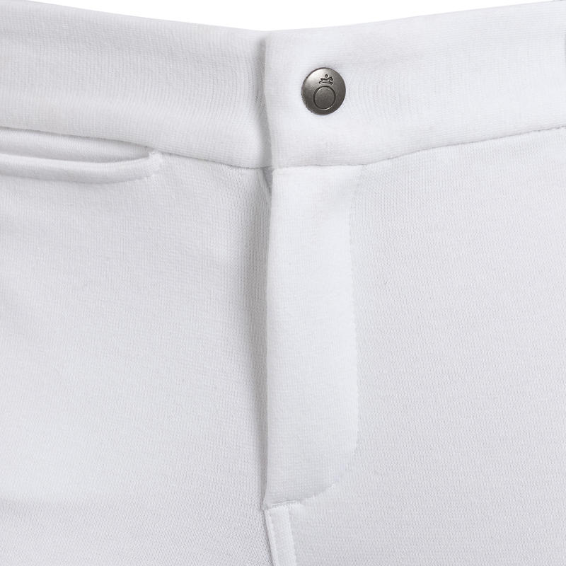 Pantalon de concours équitation enfant 100 blanc