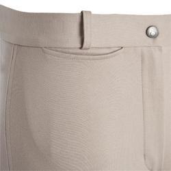 Pantalon fond de peau équitation femme ACCESSY 300 beige et marron