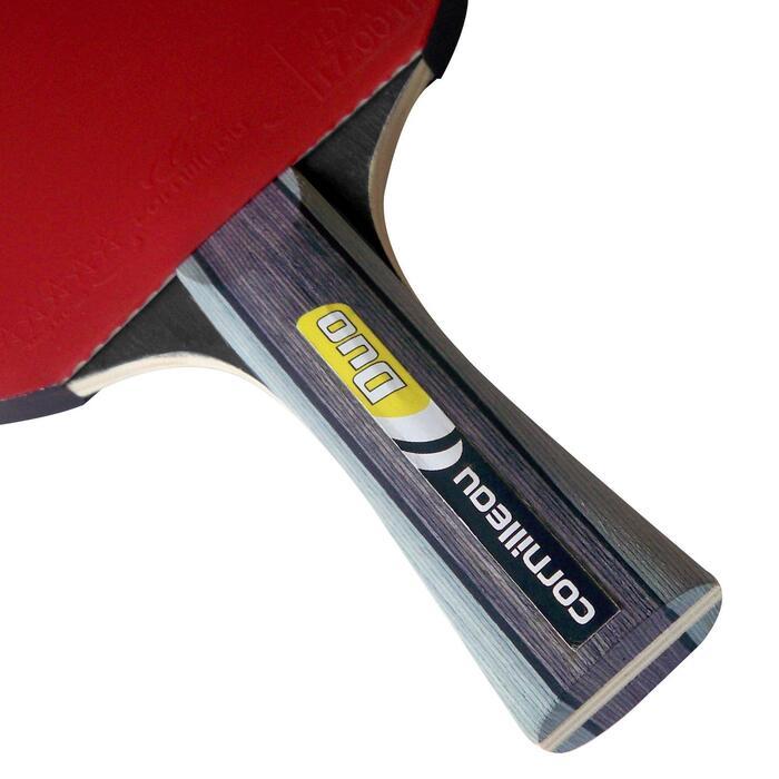 Tafeltennisset voor free tafeltennis 2 bats en 3 ballen - Duopack