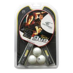Tafeltennisset 2 bats en 3 ballen - Duopack