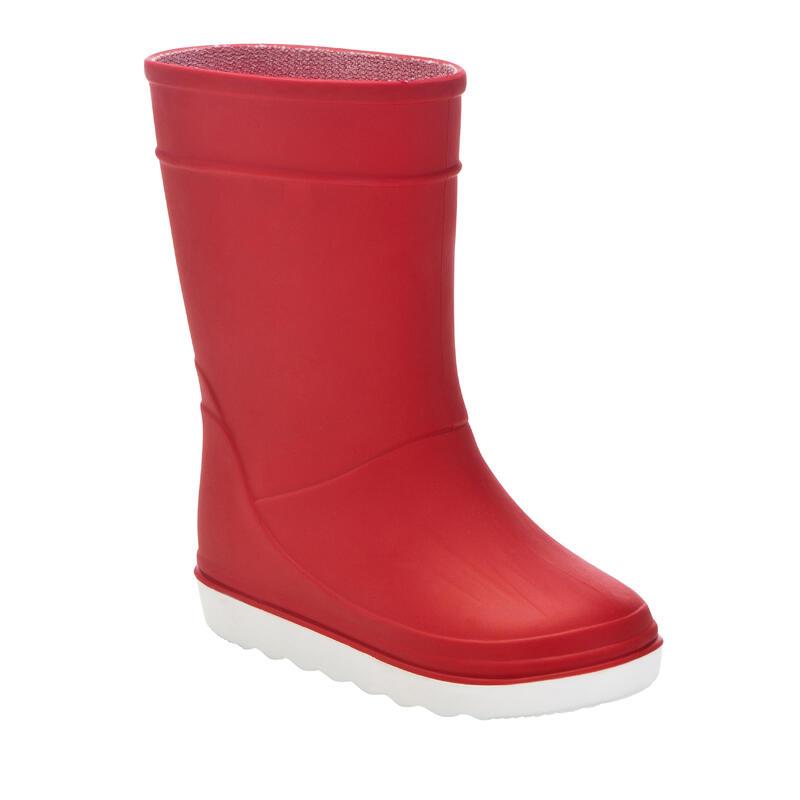 Bottes de pluie Sailing 100 enfant rouge