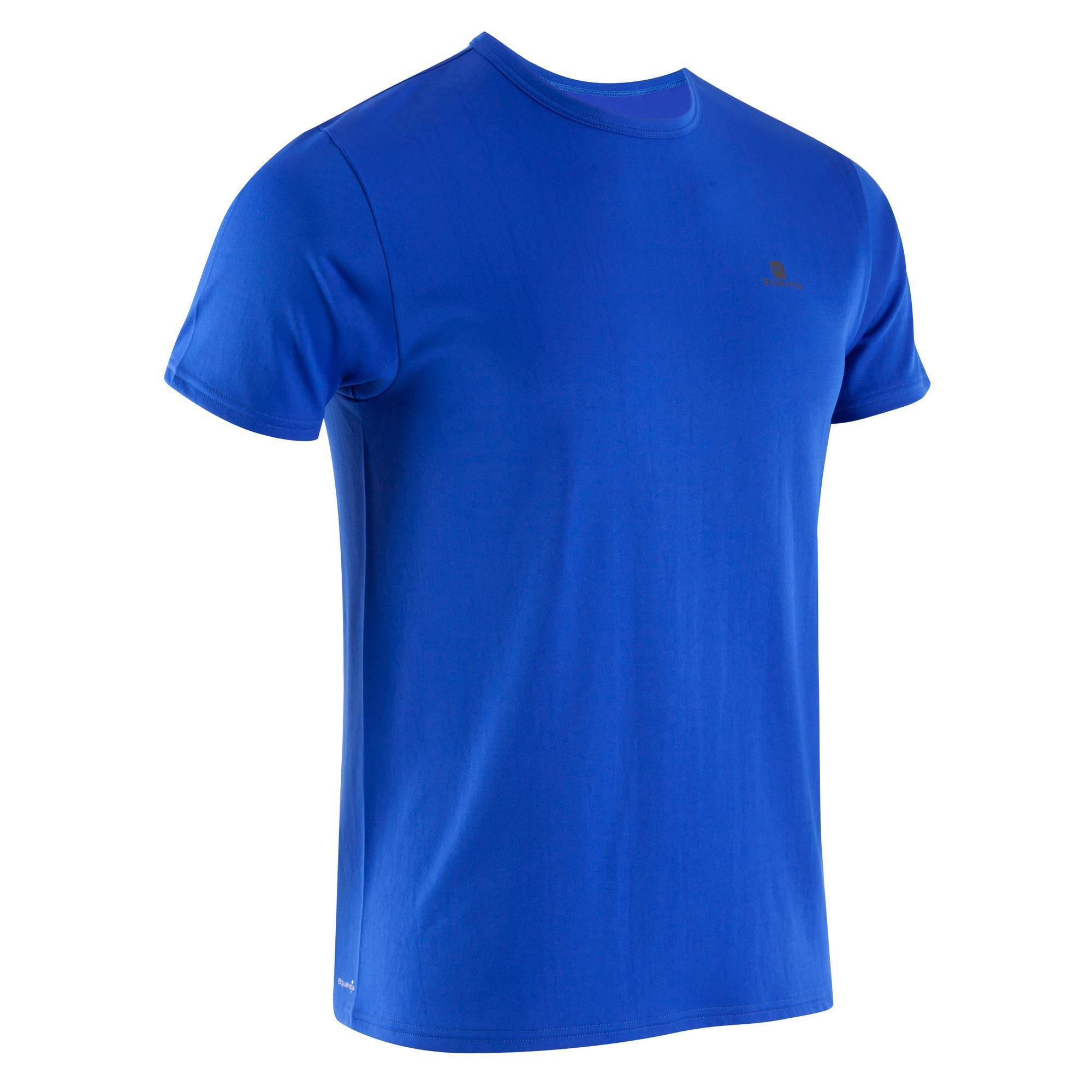 t shirt energy fitness homme bleu domyos by decathlon. Black Bedroom Furniture Sets. Home Design Ideas