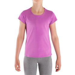 T-shirt korte mouwen gym meisjes - 340257