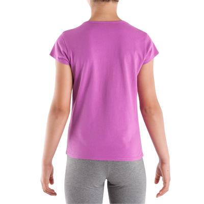 Tee-shirt fille gym rose