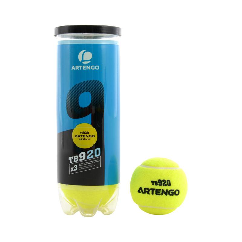All-Court Tennis Balls TB920 3-Pack - Yellow