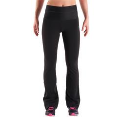 Fitnessbroek Shape met plattebuikeffect voor dames, regular fit, zwart - 341249
