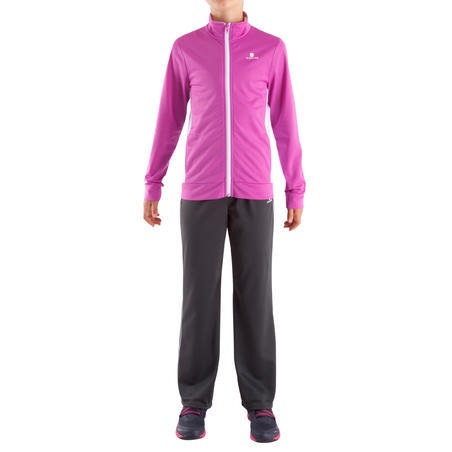 My Gym'Y Girls' Fitness Tracksuit - Tyrian Purple