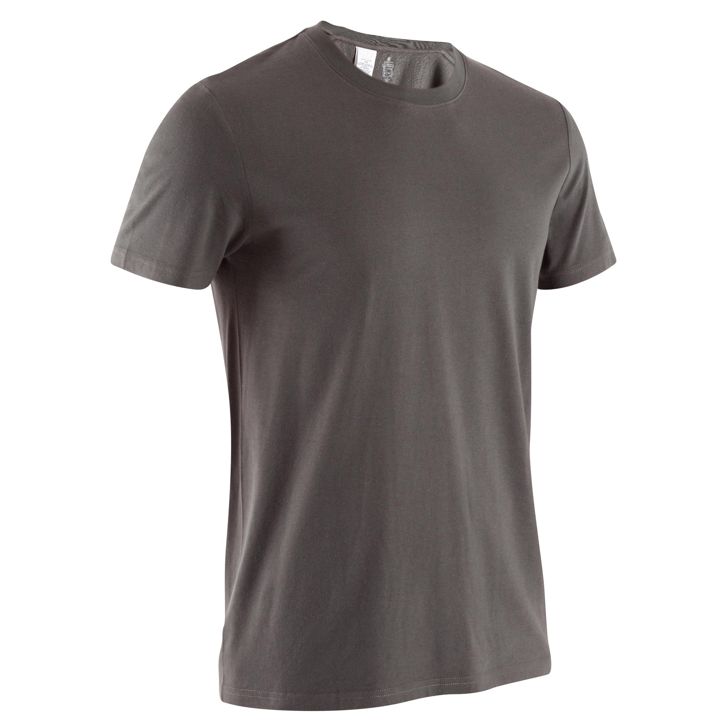 Athletee Essential Cotton Fitness T-Shirt - Khaki Green