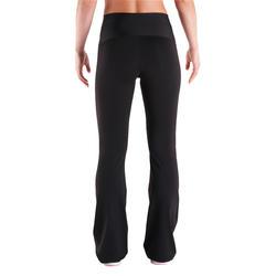 Fitnessbroek Shape met plattebuikeffect voor dames, regular fit, zwart - 342126