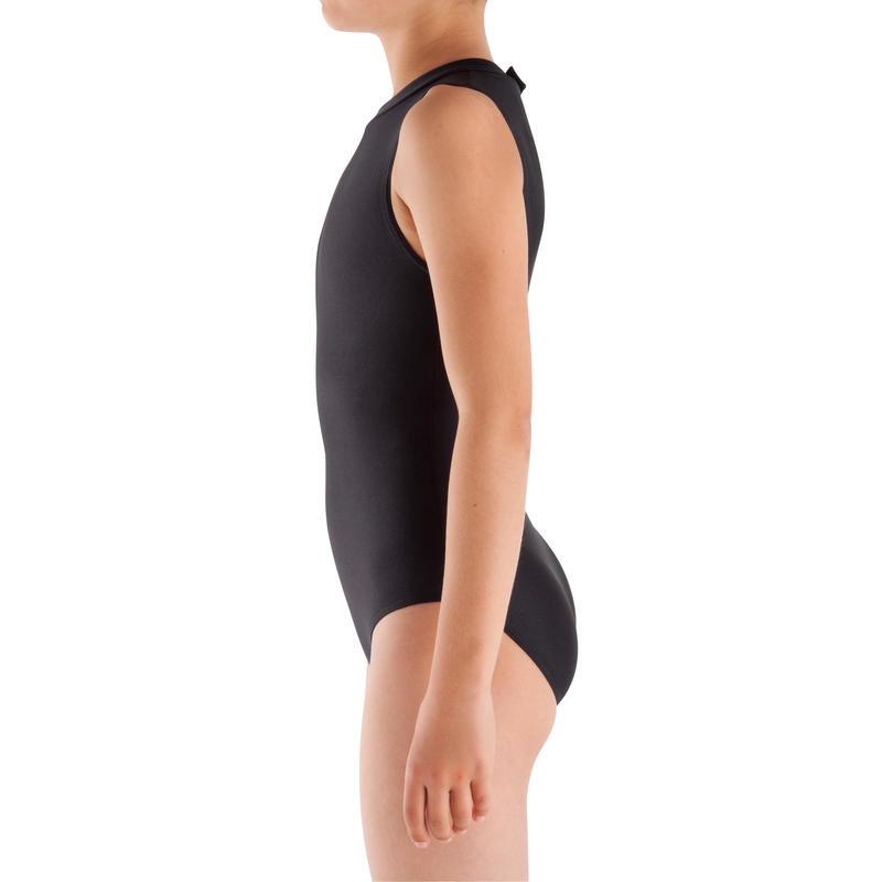 Camiseta sin mangas gimnasia niña (GAF y GR) negra