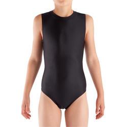 Maillot sin mangas gimnasia niña (GAF y GR) negro