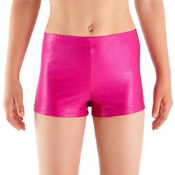 Malla short Brillante gimnasia niña rosa