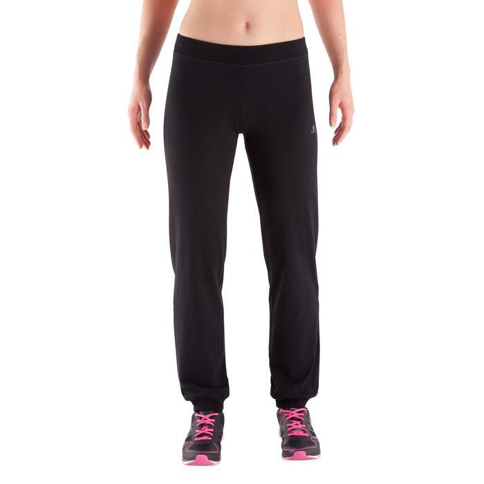 Pantalon bas resserré FIT+ regular, fitness femme - 342539