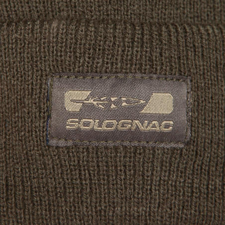 300 Warm Knitted Hunting Hat - Brown