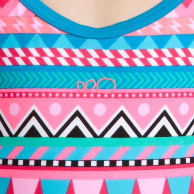 Riana girls' one-piece swimsuit - All Nava Pink