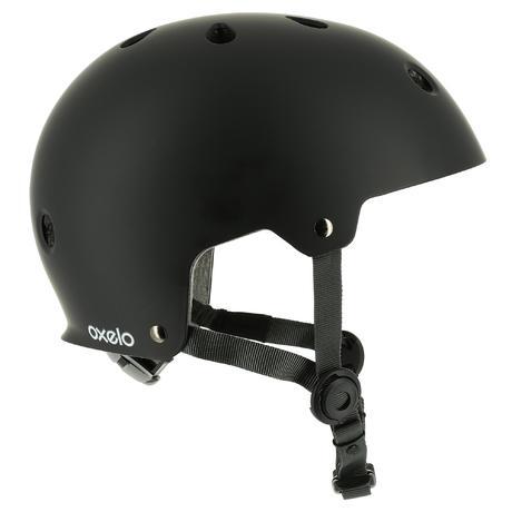 Play 5 Skateboard Scooter Skating Helmet Black Oxelo