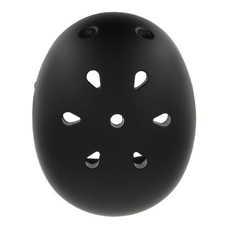Casque patins à roulettes, planche à roulettes, trottinette, PLAY 5 noir