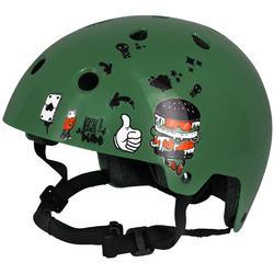 Urban Jungle Inline Skate Skateboard Scooter Helmet Stickers - Orange/Black
