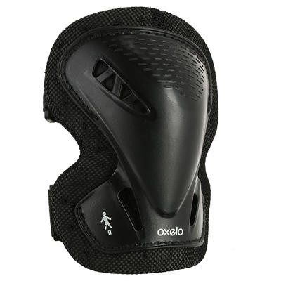 Set 3 protections roller skate trottinette adulte FIT 3 noir