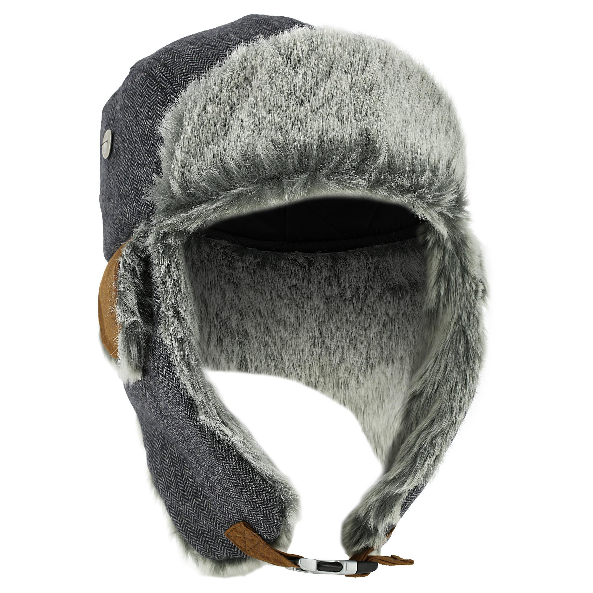 Wed'ze Chapka Cruising Fur voor skiën grijs thumbnail