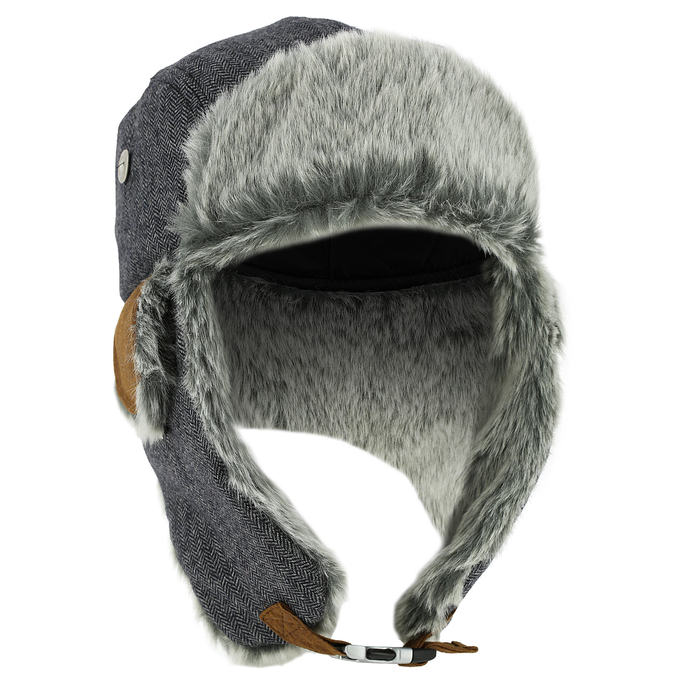 CRUISING FUR SKIING USHANKA ADULT GREY