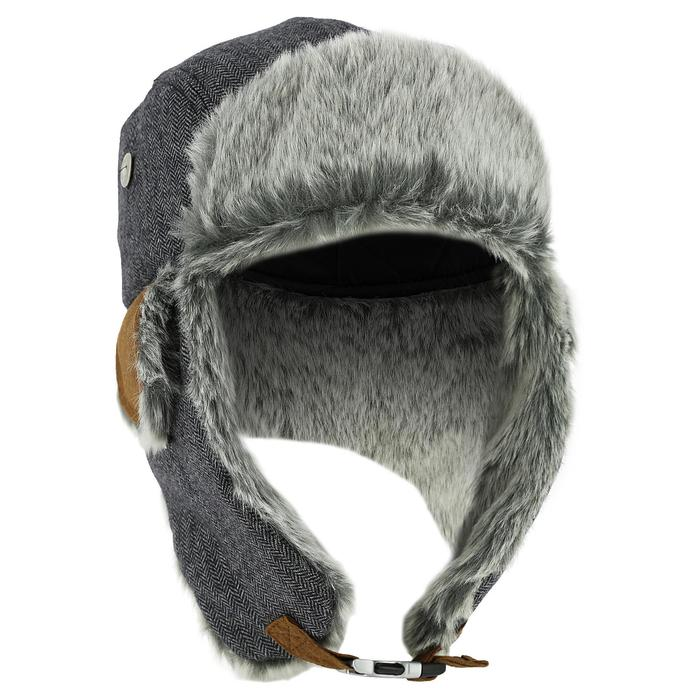 Beanie CRUISING FUR SKIING USHANKA ADULT GREY - Decathlon 2c59afd695c