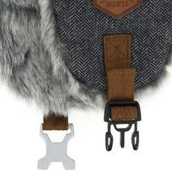 成人滑雪烏香卡毛帽CRUISING FUR灰色