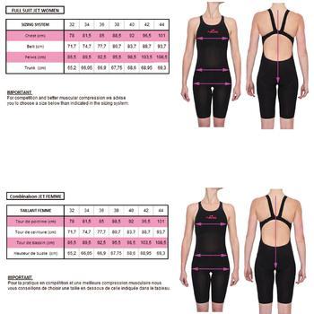 Combinaison de natation femme O JET PU NOIR - 343647