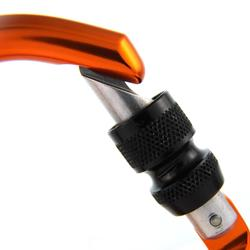 Spider HMS screw snap hook for climbing and mountaineering - orange