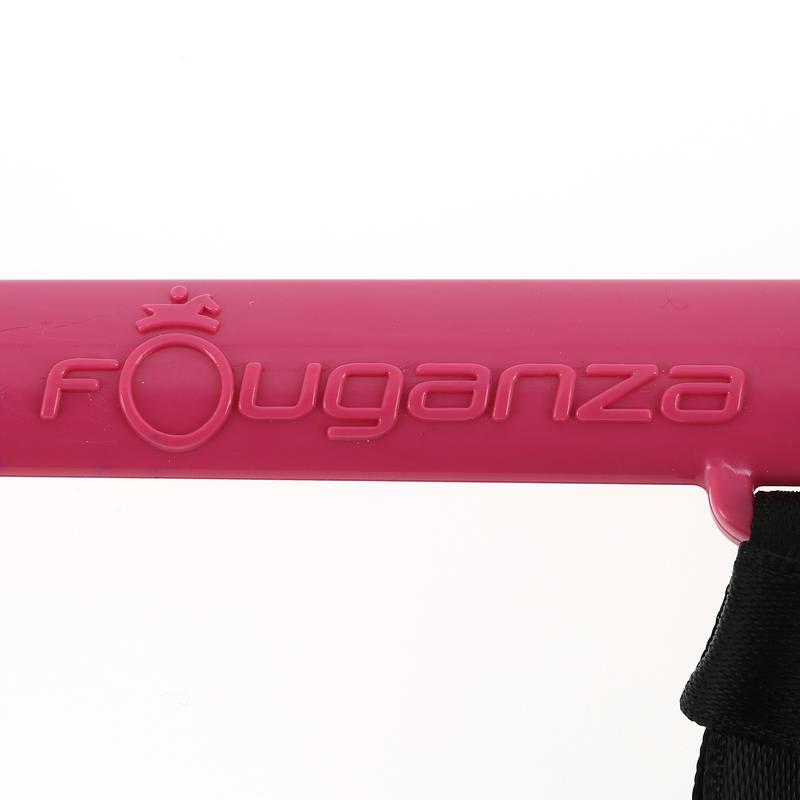 Fusta de equitación para niños SCHOOLING morado y rosado 56 cm