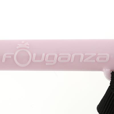 Cravache équitation enfant SCHOOLING rose et noir - 56 cm