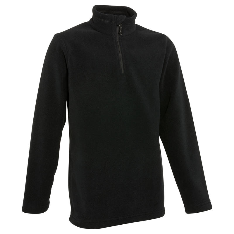 HIKE 100 Boys' Hiking Fleece - Black