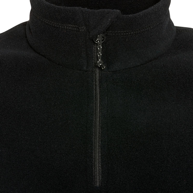 Polaire de randonnée HIKE 100 Garçon Noir