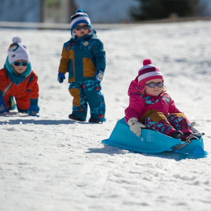 Traîneau à neige bébé Bobee bob bleu