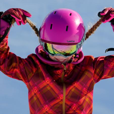 OneFeel Girls' Ski and Snowboard Helmet - Pink
